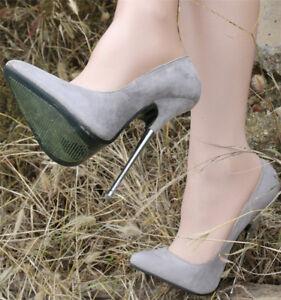 3607b187adfc Details about Women s 16cm Super High Sexy Nightclub High Heels Shoes  Pointed Toe Stilettos