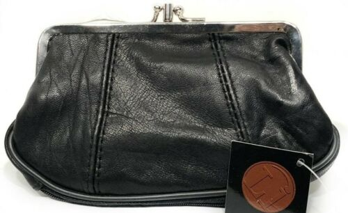Genuine Leather COIN PURSE Wallet For Women Cell Phone Pocket Snap Closure