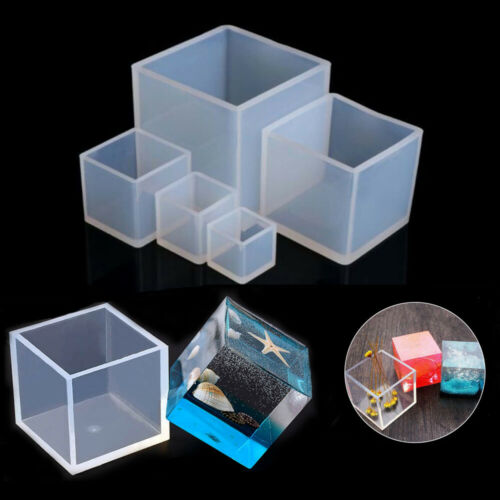 Square Cube Silicone Mould Crystal UV Epoxy Resin Molds Pendant DIY Craft