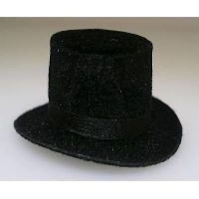 DOLLHOUSE MINIATURE BLACK COWBOY HAT