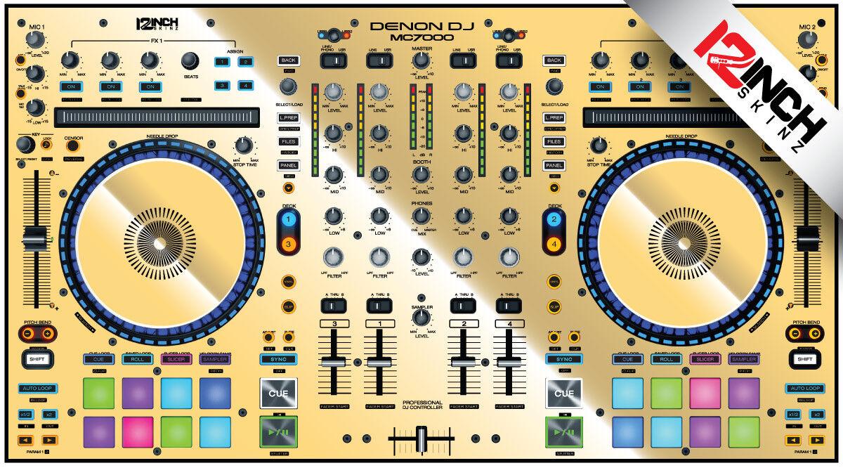 Denon MC7000 Skin mirrior Gold