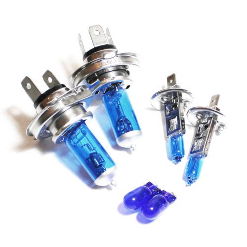 CITROEN Saxo 100w SUPER WHITE XENON HID ALTO//BASSO//Nebbia//laterale dei fari lampadine Set