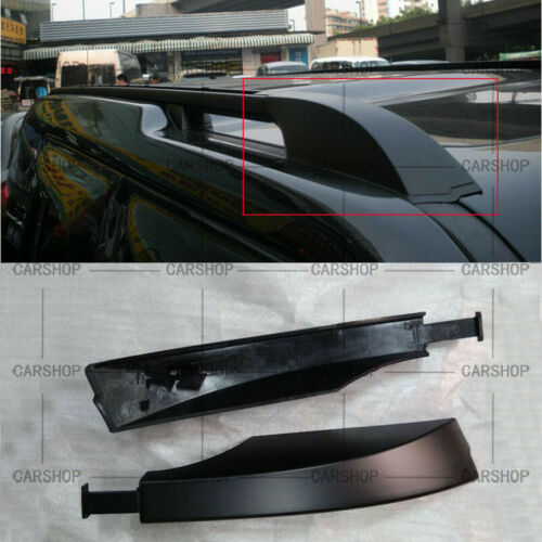 Black Car Front Roof Rack Bar Rail Covers For Land Rover Discovery LR3 LR4 05-16