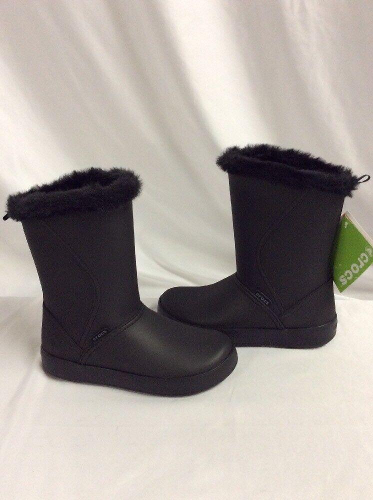 Crocs Colorlite Mid botas botas botas Mujer, Negro, Talla 7 Relaxed Fit Eur 37-38  echa un vistazo a los más baratos