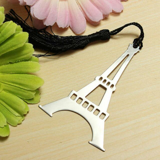 Box Tassel Creative Reading Eiffel Tower Bookmark Pendants