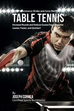 High Performance Shake and Juice Recipes for Table Tennis : Increase Muscle...