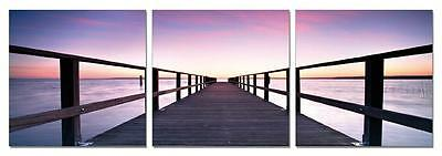 "47"" FRAMED Hot Modern Contemporary Canvas Wall Art Print Painting Bridge Ocean"