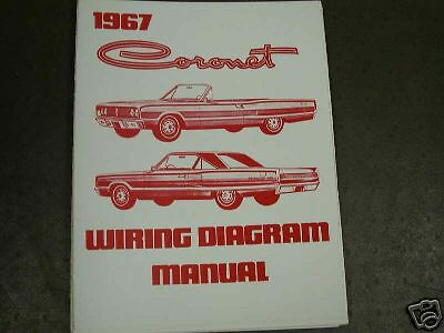 1967 Dodge Coronet Wiring Diagram Manual | eBay