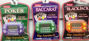 Keychain électronique casino jeu poker blackjack baccarat  </span>
