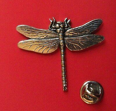 English Pewter Dragonfly  Pin Badge Tie Pin / Lapel Badge (XTSBPC3)