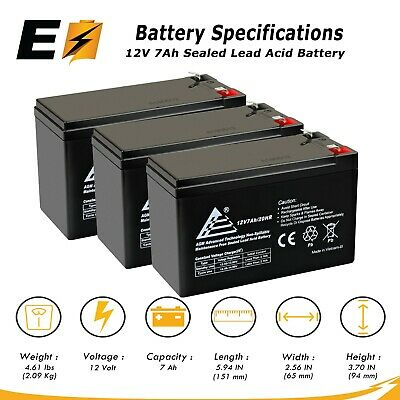 Replacement Battery SLA Altronix SMP312CX 12V 7Ah with F1 Terminal