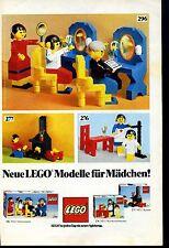 Lego-- Neue LEGO Modelle für Mädchen --Werbung von 1977--