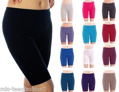 Sensibile Da Donna Cotone Pantaloncini Ciclismo Danza Leggings Lunghezza 1/2 Uk 8-28-mostra Il Titolo Originale In Corto Rifornimento