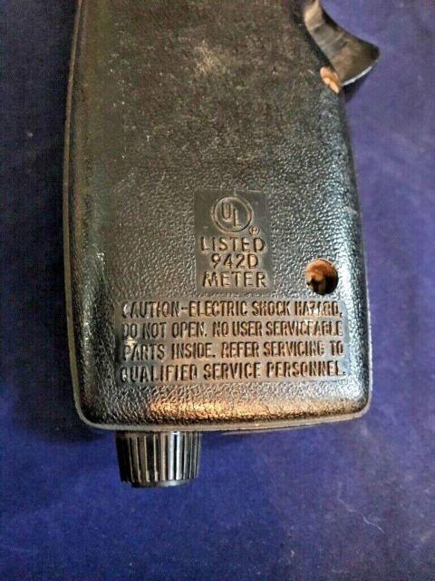 942D Clamp Meter General Electric GE Voltmeter Snapper for sale online