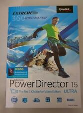 Cyberlink PowerDirector 15 Ultra with BONUS AudioDirector 6  with Free Shipping