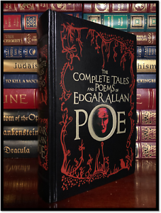 Edgar-Allan-Poe-Complete-Tales-and-Poem-Rare-Leather-Bound-Collectible-1st-Print