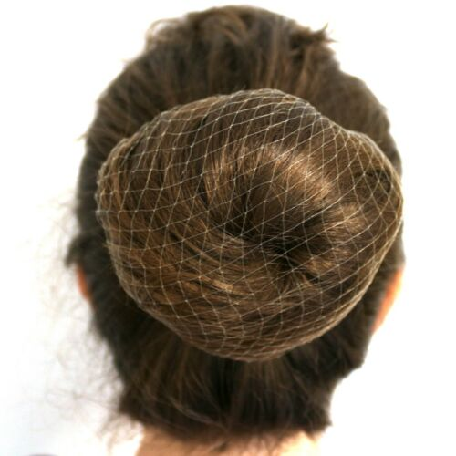 3x ELASTICATED BLONDE HAIR NETS Sleep In Slumber Head Hair Holder Wrap Bun Cover