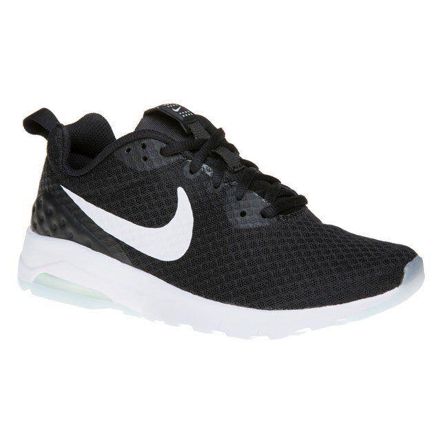 Nike Air Max Motion Womens Black & White Lightweight Running Trainers