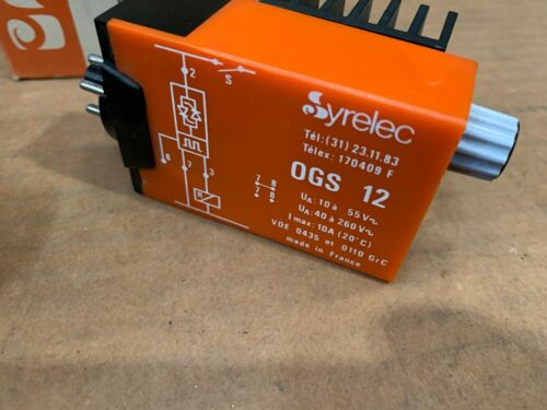 1 x  Syrelec Relay OGS 12 new    Old Stock