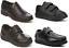 Boys-Black-School-Shoes-Memory-Foam-PU-Leather-Easy-On-UK-Sizes-Inf-6-Adult-9 thumbnail 1