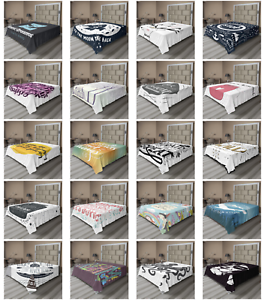 Ambesonne Calligraphic Art Flat Sheet Top Sheet Decorative Bedding 6 Sizes