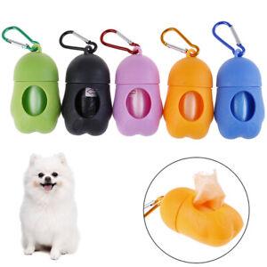 Pet Dog Dispenser Garbage Case Carrier Holder With Poop Bags Set Waste Bag