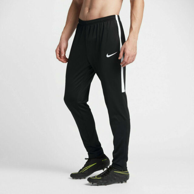 Subtropical pantalla Rústico  Men's Nike Dry Academy Soccer Pants Football Black White 839363 Large for  sale online | eBay