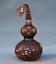 8-034-Vieille-Chine-rouge-Cuivre-Dore-prune-fleur-Bambou-Fleur-Gourdes-Vase miniature 1
