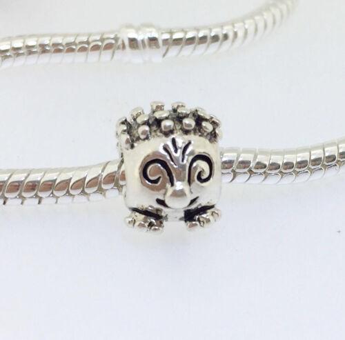 JS397 Hérisson Argent Charms Bead Fit European Bracelet//Collier Chaîne