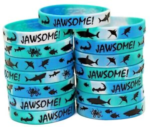 Shark Party Favors - Wristbands for Jawsome! Shark Themed Parties - Pack of 15!