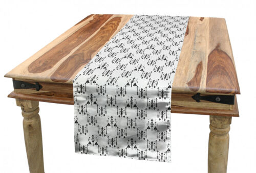 Ambesonne Tribal Table Runner Dining Room Kitchen Decor in 3 Sizes