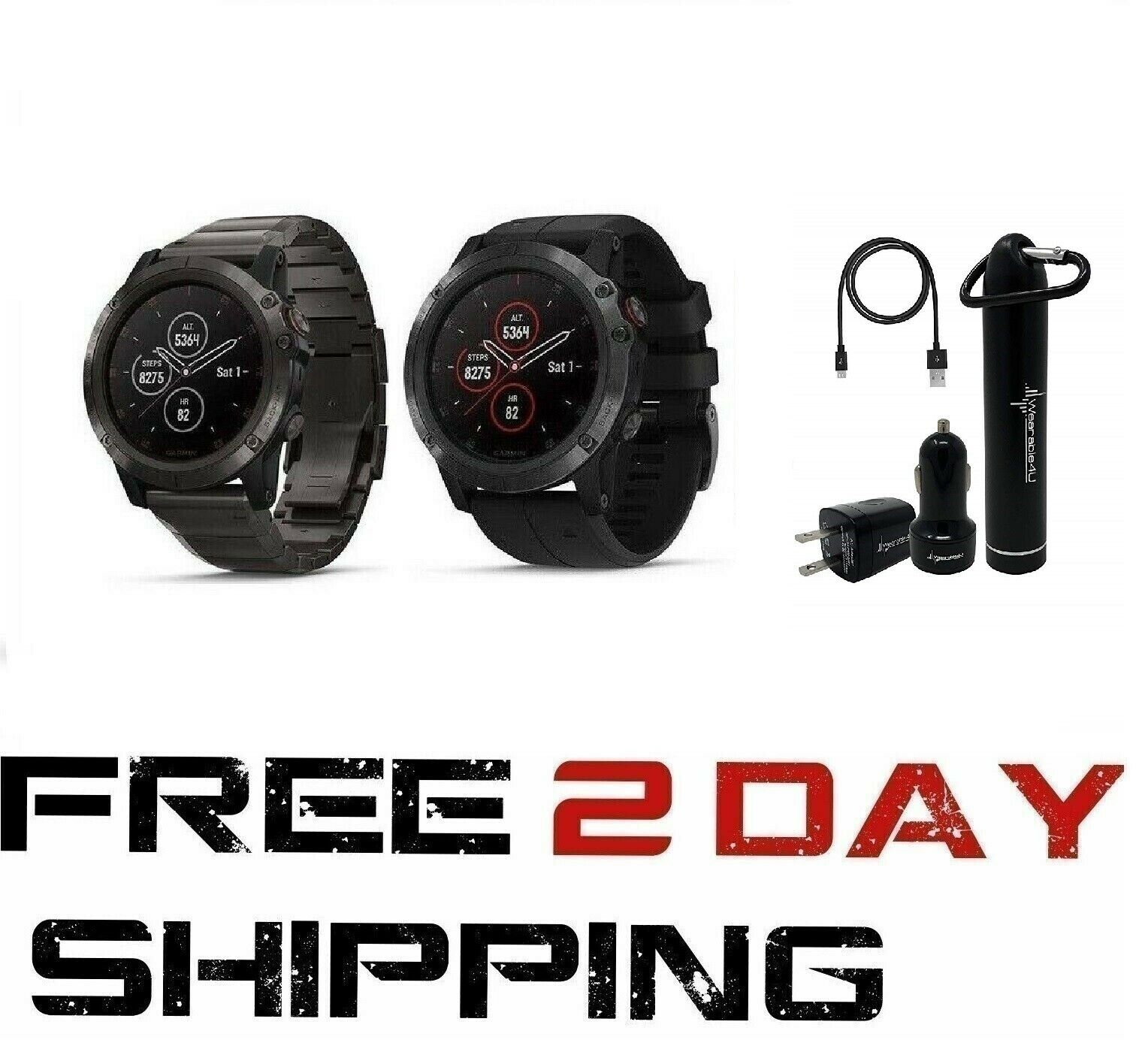 Garmin Fenix 5X Plus Zafiro EcoTread GPS reloj con alimentación 4U usable