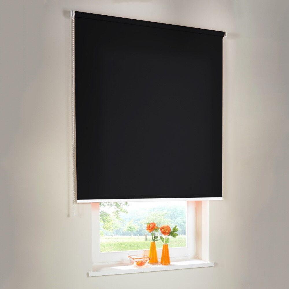 Seitenzugrollo Kettenzugrollo Rollo Rollo Rollo Sichtschutz - Höhe 110 cm schwarz   eine breite Palette von Produkten  9b4072