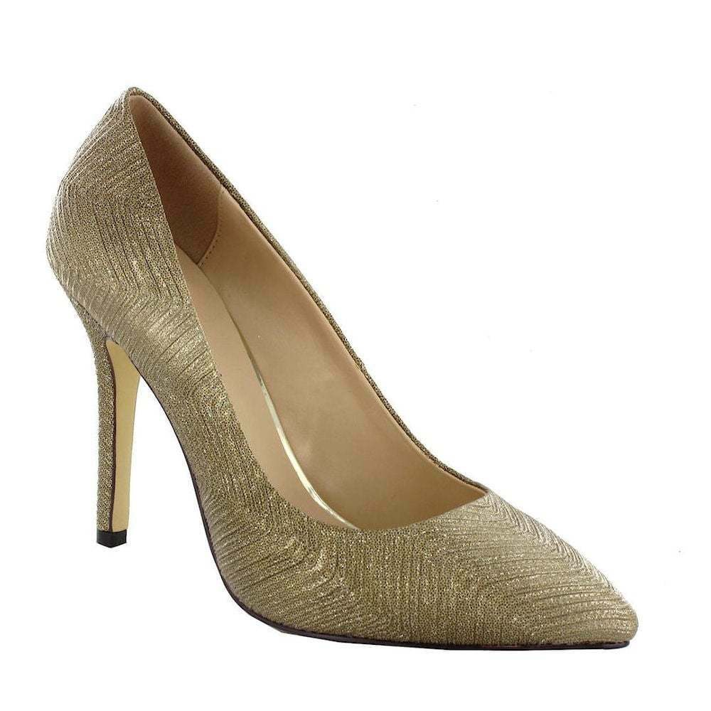 Menbur Pacomena Retro Style gold Pointed Toe Wedding or Special Occasion Heels