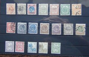 Curacao-1895-Surcharge-1903-values-to-25c-1915-values-to-20c-etc-Fine-Used