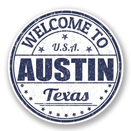 2 x austin texas usa vinyle autocollant ordinateur portable voyage bagage voiture #5885