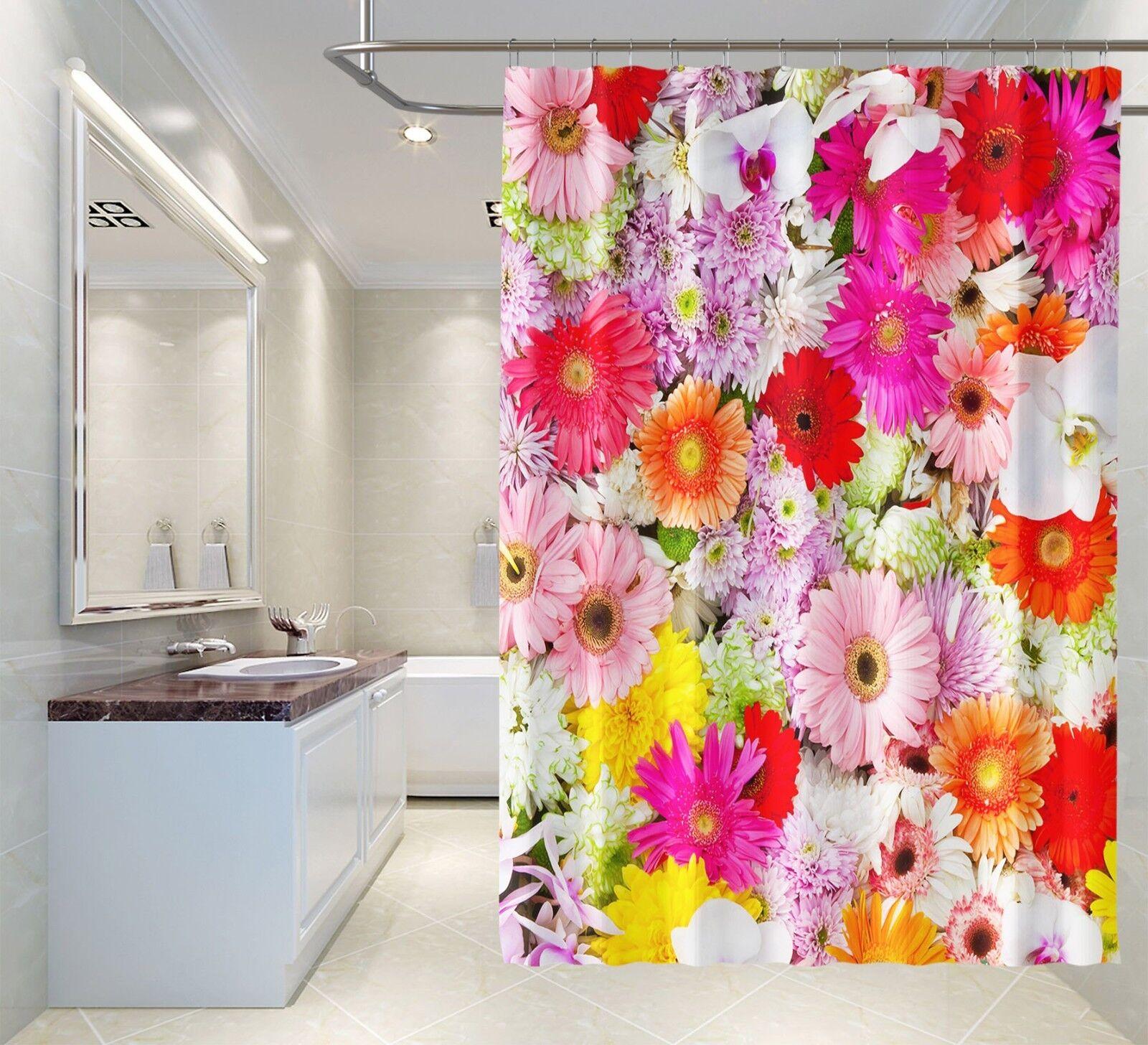 3D Farbe Blaume 352 Duschvorhang Wasserdicht Faser Bad Daheim Windows Toilette DE