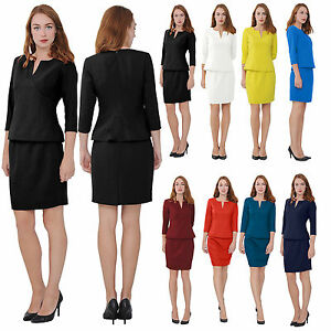 Marycrafts Women S Elegant Skirt Suit Set Work Office Business Wear