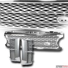 Chrome Silver Mesh Front Bumper Grill Grille+Side Fender Vent 06-09 Range Rover