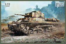 40M TURAN I - WW II HUNGARIAN MEDIUM TANK #72047 1/72 IBG BRAND NEW