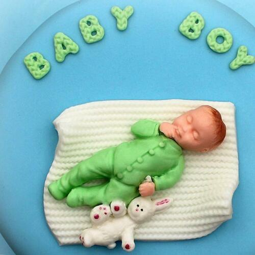 Silicone Mold Sleeping Baby Fondant Cake Decorating Candy Sugarcraft Moulds DS