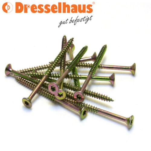 Dresselhaus Spanplattenschrauben Teilgewinde JD79 Torxantrieb 3x30-6x200 e