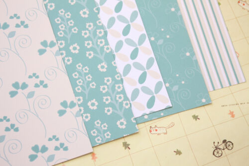 Teal /& Cream Patterns Card Stock 250gsm place cards scrapbooking paper cardstock