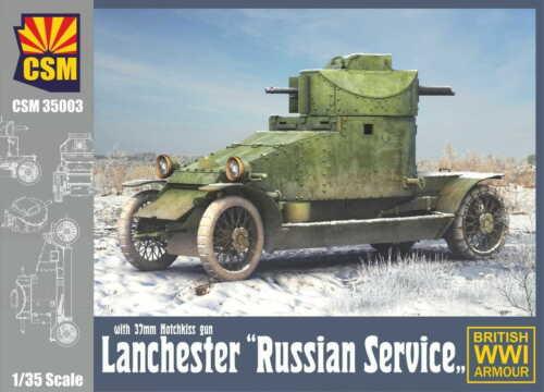 CSM 35003 1//35 Scale Lanchester /'/'Russian Service/'/' with 37mm Hotchkiss gun.