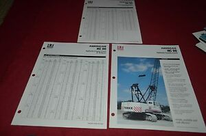 Terex American HC 80 Hydraulic Crawler Crane Dealer's