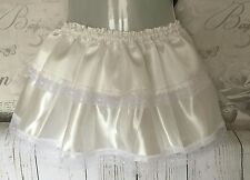 White satin sissy skirt maid tutu rara mini sateen