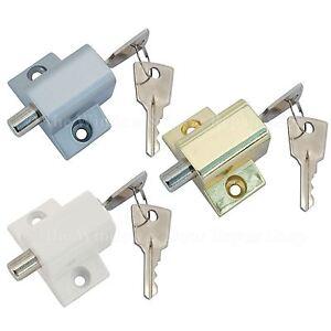 Sliding Patio Door Lock Security Dead Bolt Push Key