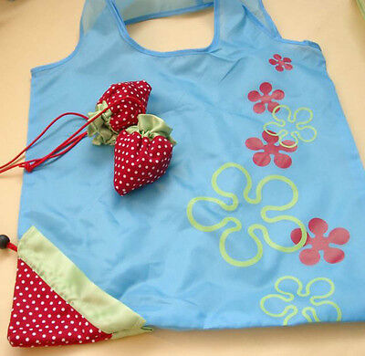 Hot Eco Storage Handbag Strawberry Foldable Shopping Bags Reusable Bag 8 colors