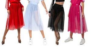 adidas-Originals-Womens-Tulle-Mesh-A-Line-Tutu-Midi-Skirt-XS-S-M-L