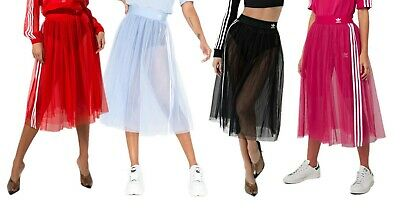 Adidas Originals Femme tulle résille Une ligne Tutu Midi Jupe XS S M L | eBay